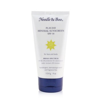Купить Play-Day Mineral Sunscreen SPF-30 - For Face & Body 113.4g/4oz, Noodle & Boo