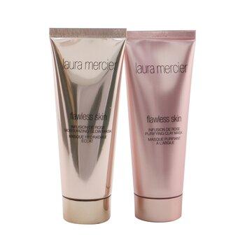 Купить Infusion De Rose Mask Duo Set: Flawless skin moisturizing glow mask 75g/2.5oz + Flawless skin ...(Box Slightly Damaged) 2pcs, Laura Mercier
