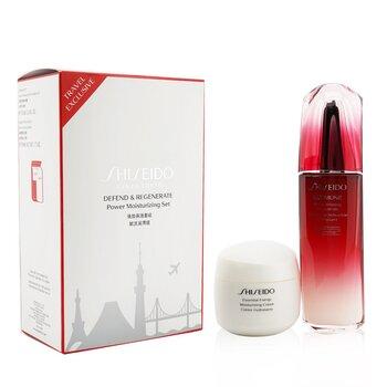 Купить Defend & Regenerate Power Moisturizing Set: Ultimune Power Infusing Concentrate N 100ml + Essential Energy Moisturizing Cream 50 ml 2pcs, Shiseido