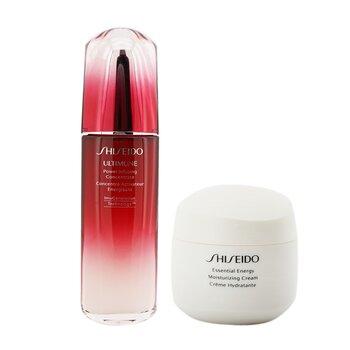 Купить Defend & Regenerate Power Moisturizing Set: Ultimune Power Infusing Concentrate N 100ml + Essential Energy Moisturizing Cream 50 ml (Box Slightly Damaged) 2pcs, Shiseido