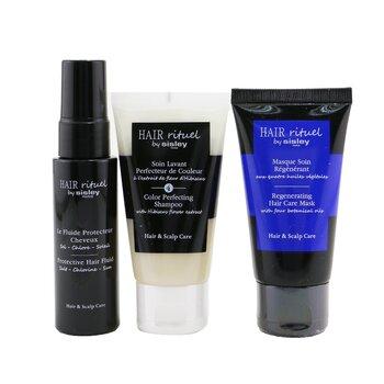 Купить Hair Rituel By Sisley Color Protection Kit: 1x Shampoo 50ml, 1x Hair Mask 50ml, 1x Hair Fluid 40ml