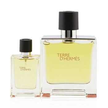 Купить Terre D'Hermes Pure Parfum Coffret: Eau De Parfum Spray 75ml/2.53oz + Eau De Parfum Spray 12.5ml/0.42oz
