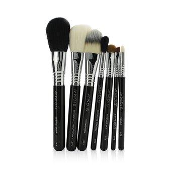 Купить Essential Travel Brush Set (7x Brushes, 1x Brush Cup) 7pcs+Brush Cup, Sigma Beauty