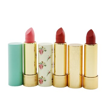 Купить Travel Lipstick Collection (2x Lip Colour + 1x Lip Balm) 3x3.5g/0.12oz, Gucci