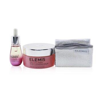 Купить Pro-Collagen Rose Duet: Rose Cleansing Balm 100g+ Rose Facial Oil 15ml+ Luxury Cleansing Cloth (Box Slightly Damaged) 3pcs, Elemis
