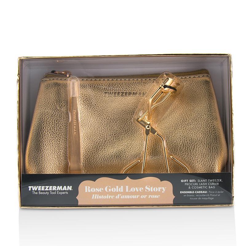 Tweezerman 微之魅 玫瑰金恋爱物语礼盒Rose Gold Love Story Gift Set 2pcs+1bag