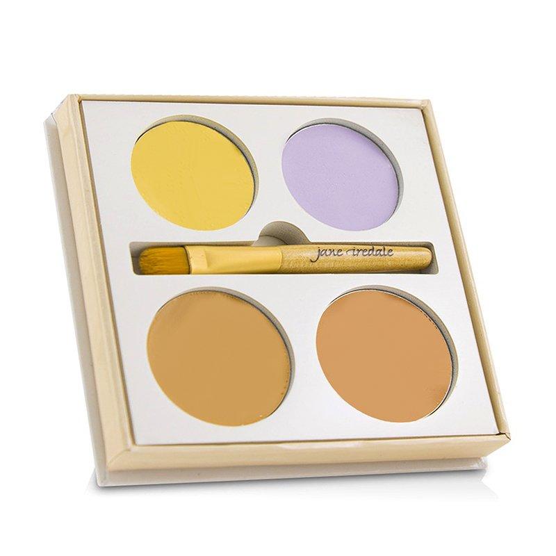 Jane Iredale   珍爱芮德    4色遮瑕盘  Corrective Colors Kit (4x遮瑕+1x刷具)   9.9g