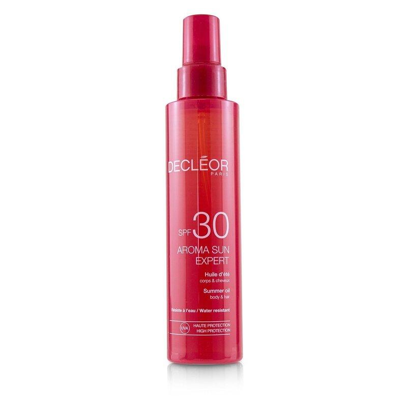 Decleor 思妍丽 身体amp;头发防晒油SPF30Aroma Sun Expert Summer Oil 150ml法国
