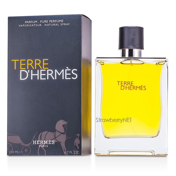 hermes terre d 39 hermes pure parfum spray 200ml ebay. Black Bedroom Furniture Sets. Home Design Ideas
