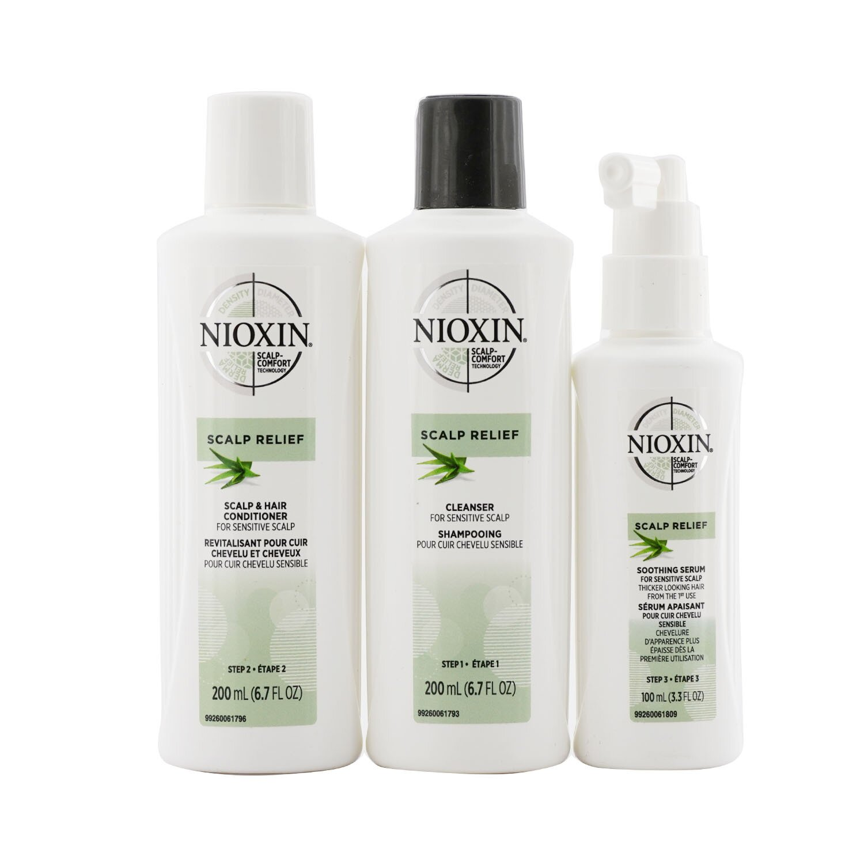 Buy NIOXIN - Scalp Relief System Kit - For Sensitive Scalp 3pcs Singapore