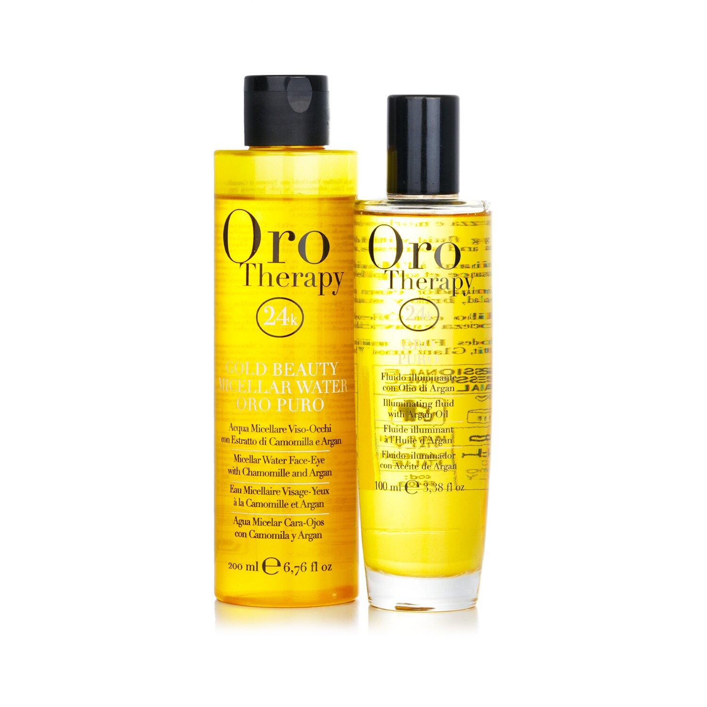 Buy FANOLA - Oro Therapy 24k Golden Beauty Set (Limited Edition): Oro Puro Illuminating Fluid 100ml + Gold Beauty Micellar Water 200ml 2pcs Singapore