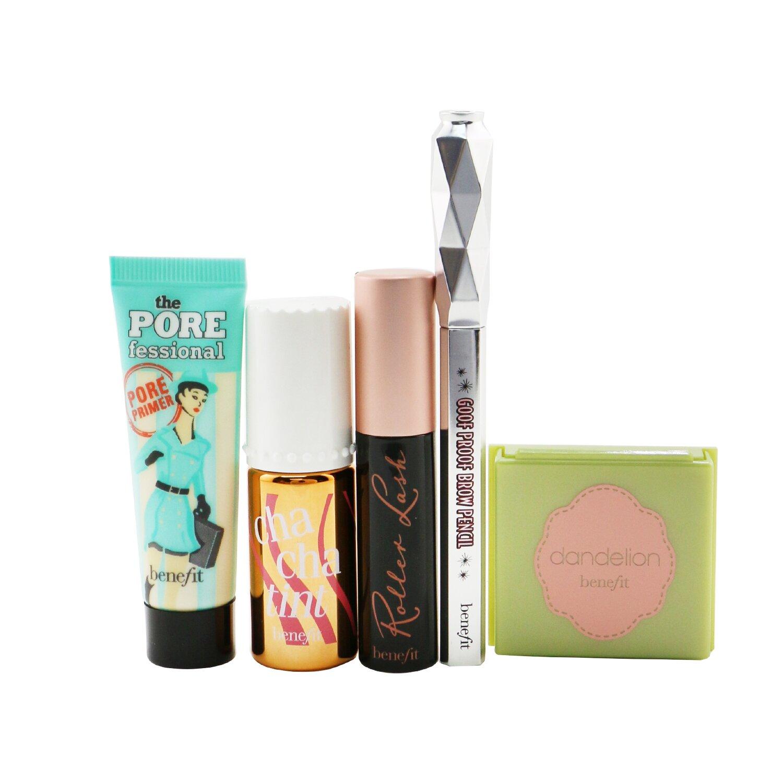 Buy BENEFIT - Pretty Up & Away Set (Primer + Powder + Cheek & Lip Stain + Brow Pencil + Mascara) 5pcs Singapore