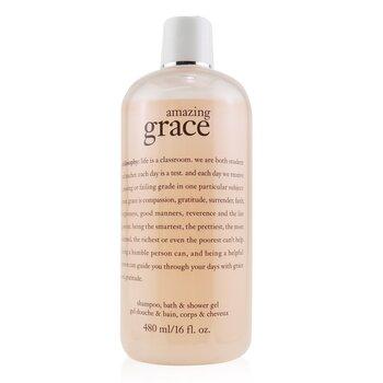 Amazing Grace Perfumed Shampoo, Bath & Shower Gel (480ml/16oz)