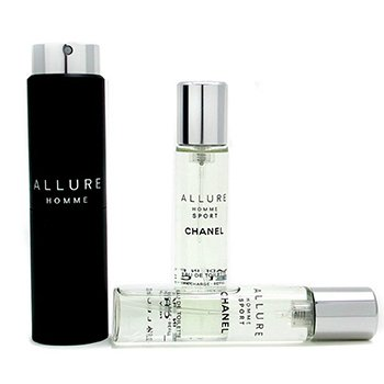 Allure Homme Sport Eau De Toilette Travel Spray (With Two Refills) (3x20ml/0.7oz)