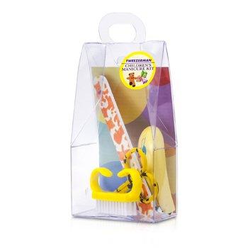 Tweezerman Детский Набор: Щипчики для Ногтей + Пилочка для Ногтей + Щеточка для Ногтей + Ножницы для Ногтей 4pcs