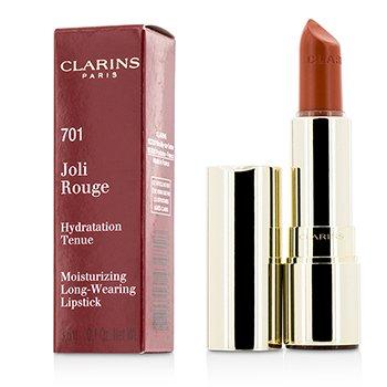 Clarins Joli Rouge (Стойкая Увлажняющая Губная Помада) - # 701 Orange Fizz 3.5g/0.12oz