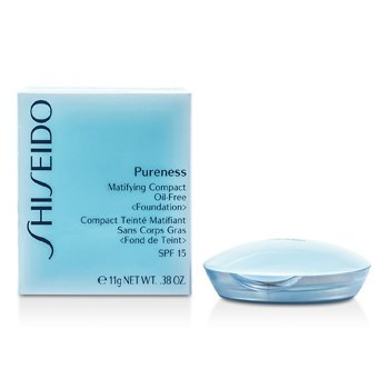 Shiseido Пьюрнесс Матирующая Нежирная Компактная Основа SPF15 ( Пудреница и Запасной Блок ) - # 60 Натуральный Бронзовый 11g/0.38oz