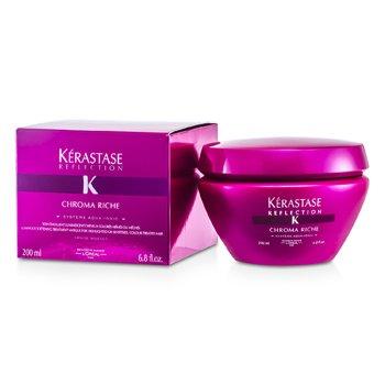 Kerastase Reflection Chroma Riche Смягчающая Маска для Блеска Волос (для Осветленных или Чувствительных, Окрашенных Волос) 200мл./6.8унц.