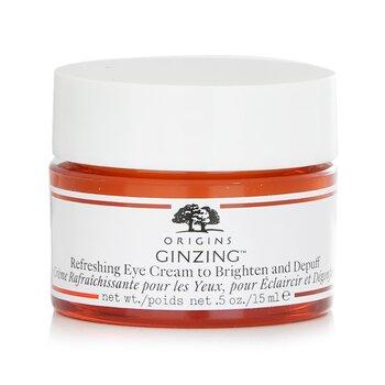 GinZing Refreshing Eye Cream To Brighten and Depuff (15ml/0.5oz)