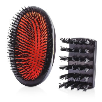 Boar Bristle - Sensitive Military Pure Bristle Medium Size Hair Brush (Dark Ruby) (1pc)