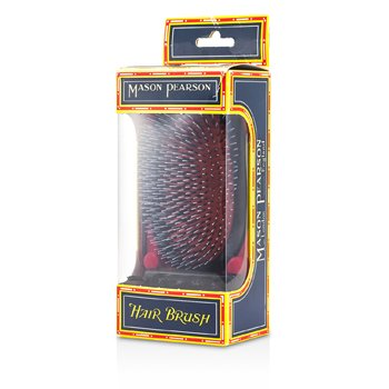 Boar Bristle & Nylon - Popular Military Bristle & Nylon Large Size Hair Brush (Dark Ruby) (1pc)