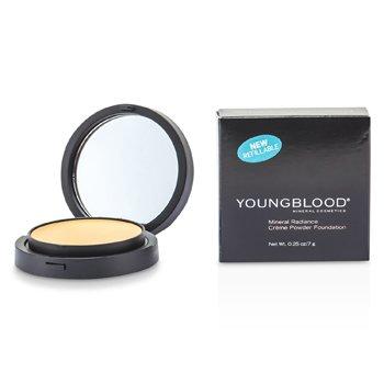 Youngblood 漾布拉 礦物粉底 Mineral Radiance Creme Powder Foundation - # Warm Beige - 粉底及蜜粉