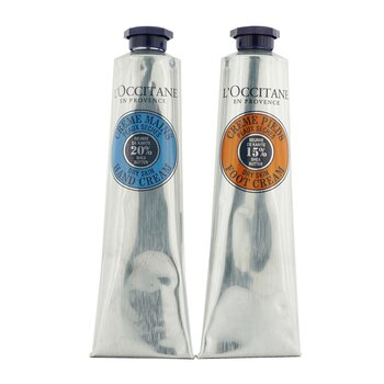 Shea Butter Hand & Foot Kit: Hand Cream 75ml/2.6oz + Foot Cream 75ml/2.6oz (2pcs)