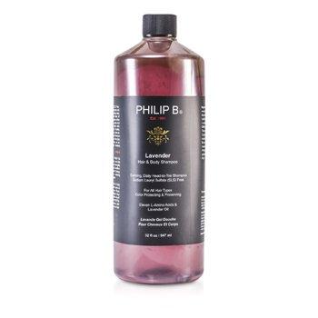 Philip B Шампунь для Тела и Волос с Лавандой (для Всех Типов Волос, Защита и Сохранение Цвета) 947ml/32oz