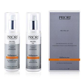Priori Idebenone PRO Набор для Пилинга (Салонный Продукт): Pro Peel Гель + Pro Peel Очищающее Средство 2x180ml/6oz