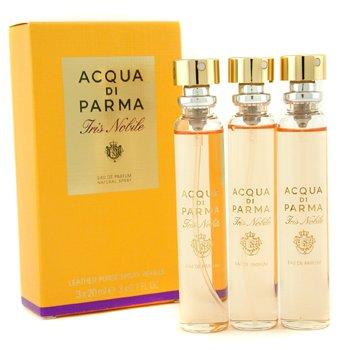 Acqua Di Parma Iris Nobile Парфюмированная Вода Спрей в Кожанном Футляре Запасной Блок 3x20ml/0.7oz