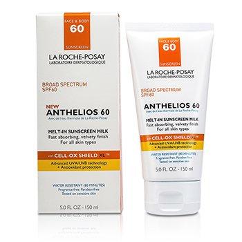 La Roche Posay Антелиос 60 Тающее Солнцезащитное Молочко ( для Лица и Тела ) (коробка слегка повреждена) 150ml/5oz