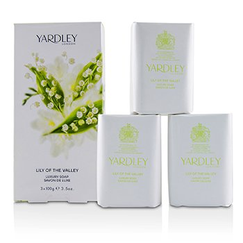 Yardley Lily Of The Valley Роскошное Мыло 3x100g/3.5oz