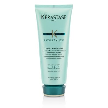 Resistance Ciment Anti-Usure Strengthening Anti-Breakage Cream - Rinse Out (For Damaged Lengths & Ends) (200ml/6.8oz)