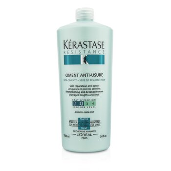 Resistance Ciment Anti-Usure Strengthening Anti-Breakage Cream - Rinse Out (For Damaged Lengths & Ends) (1000ml/34oz)