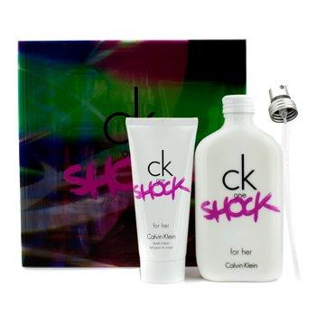 Calvin Klein CK One Shock For Her Набор: Туалетная Вода Спрей 200мл/6.7унц + Лосьон для Тела 100мл/3.4унц 2pcs