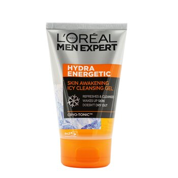 Men Expert Hydra Energetic Skin Awakening Icy Cleansing Gel (100ml / 3.4oz)