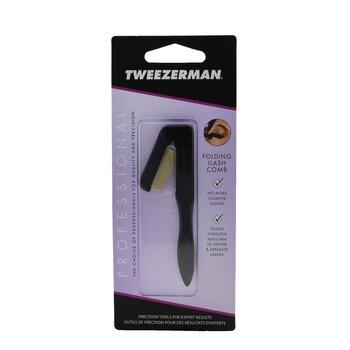 Tweezerman Профессиональная Складная Расческа для Ресниц - Черная -