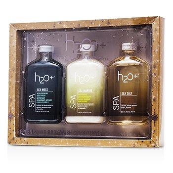 H2O+ Sea Moss Восстанавливающий Набор для Тела: Гель для Душа 250мл + Крем для Душа 250мл + Восстанавливающий Гель для Душа 250мл 3pcs
