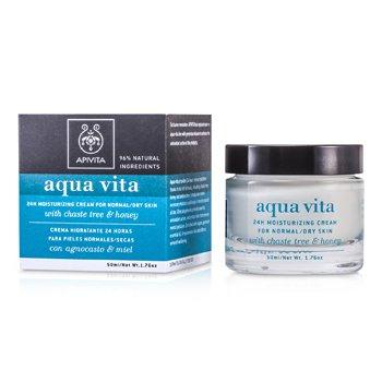 Apivita Aqua Vita 24Ч Увлажняющий Крем (для Нормальной/Сухой Кожи) 50ml/1.76oz