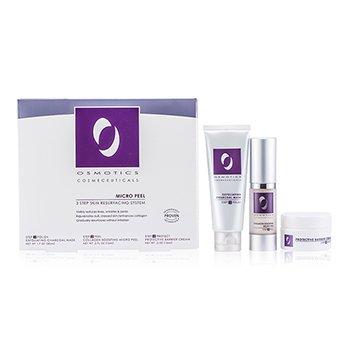 Micro Peel Skin Resurfacing System: Exfoliating Charcoal Mask 50ml/1.7oz + Collagen Boosting Micro Peel 15ml/0.5oz + Protective Barrier Cream 15ml/0.5oz (3pcs)