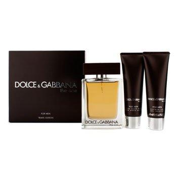 Dolce & Gabbana The One Coffret: EDT Spray 100ml/3.3oz + A/S Balm 50ml/1.6oz + Shower Gel 50ml/1.6oz 3pcs Aftershave