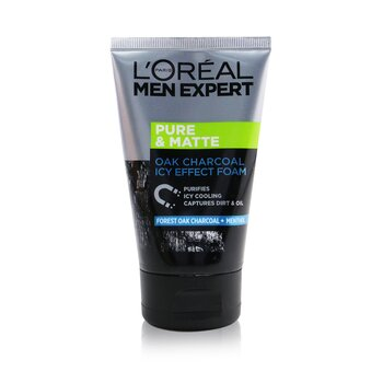 Men Expert Pure & Matte Icy Effect Charcoal Black Foam (100ml/3.4oz)