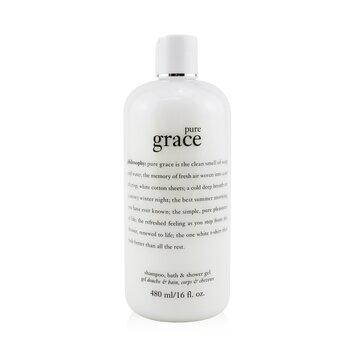 Pure Grace Shampoo, Bath & Shower Gel (480ml/16oz)