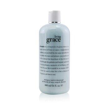 Living Grace Shampoo, Bath & Shower Gel (480ml/16oz)