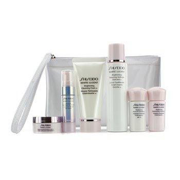 Shiseido White Lucent Набор: Очищающая Пенка 50мл + Смягчающее Средство 75м + Сыворотка 9мл + Эмульсия 15мл + Эмульсия SPF15 15мл + Крем 18мл + Сумка 6pcs+Bag