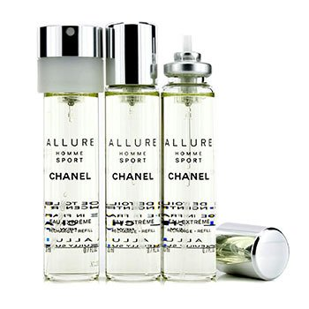 Allure Homme Sport Eau Extreme Travel Spray Refills (3 Refills) (3x20ml/0.7oz)