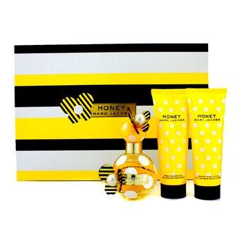 Marc Jacobs Honey Набор: Парфюмированная Вода Спрей 50мл/1.7унц + Лосьон для Тела 75мл/2.5унц + Гель для Душа 75мл/2.5унц 3pcs