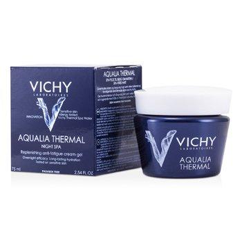 Vichy Aqualia Thermal Night Spa Восстанавливающий Крем-Гель против Усталости (для Чувствительной Кожи) 75ml/2.54oz