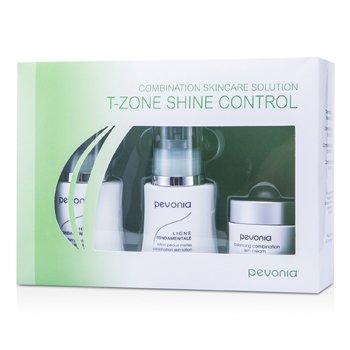 Combination Skincare Solution - T-Zone Shine Control: Cleanser 50ml/1.7oz + Lotion 50ml/1.7oz + Cream20ml/0.7oz (3pcs)