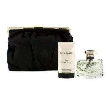 Bvlgari Mon Jasmin Noir Набор: Парфюмированная Вода Спрей 75мл/2.5унц + Сияющий Лосьон для Тела 75мл/2.5унц + Сумка 2pcs+1pouch
